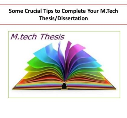 What is an M.Tech thesis all about?