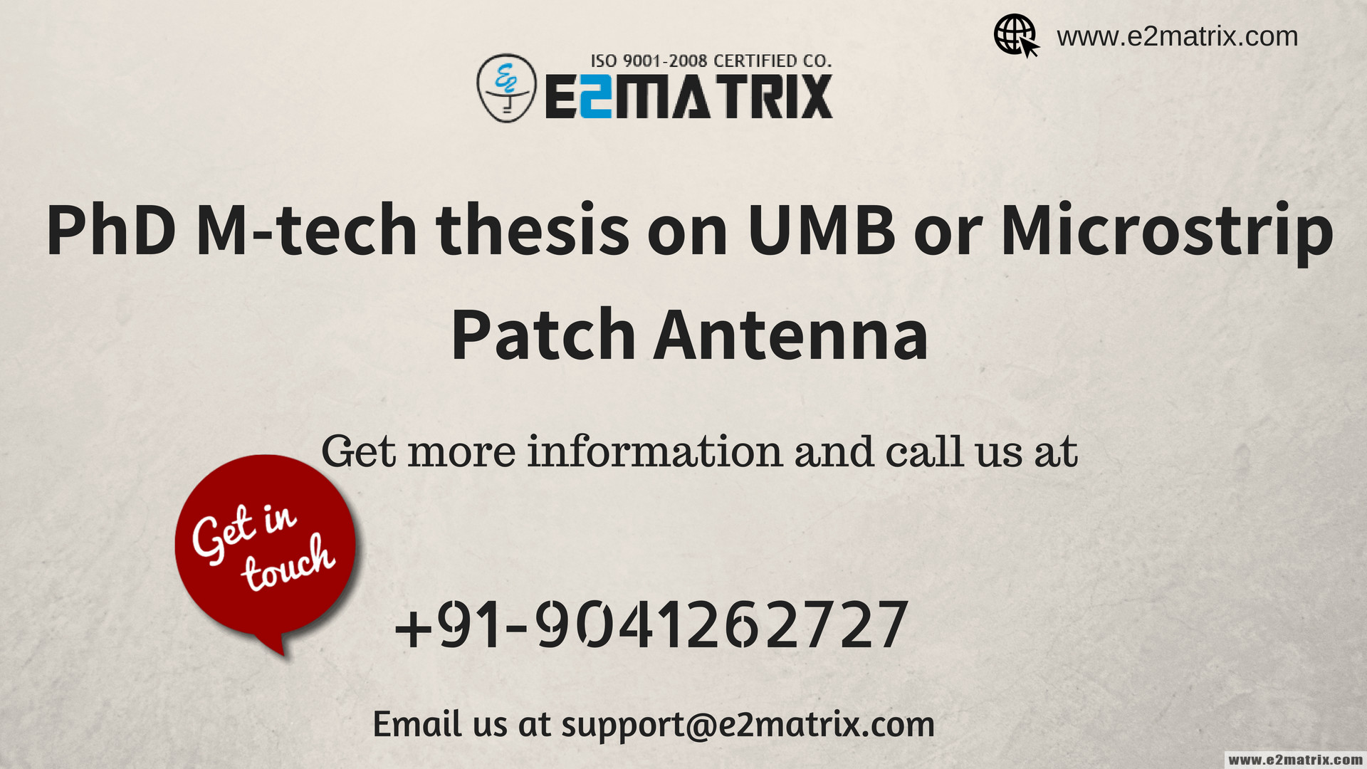 PhD M-tech thesis on UMB or Microstrip patch antenna