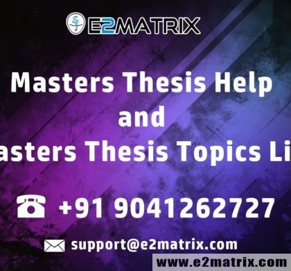 Masters Thesis Help and Masters Thesis Topics List