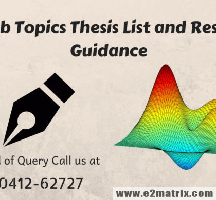 Matlab Topics,Thesis List and Research Guidance