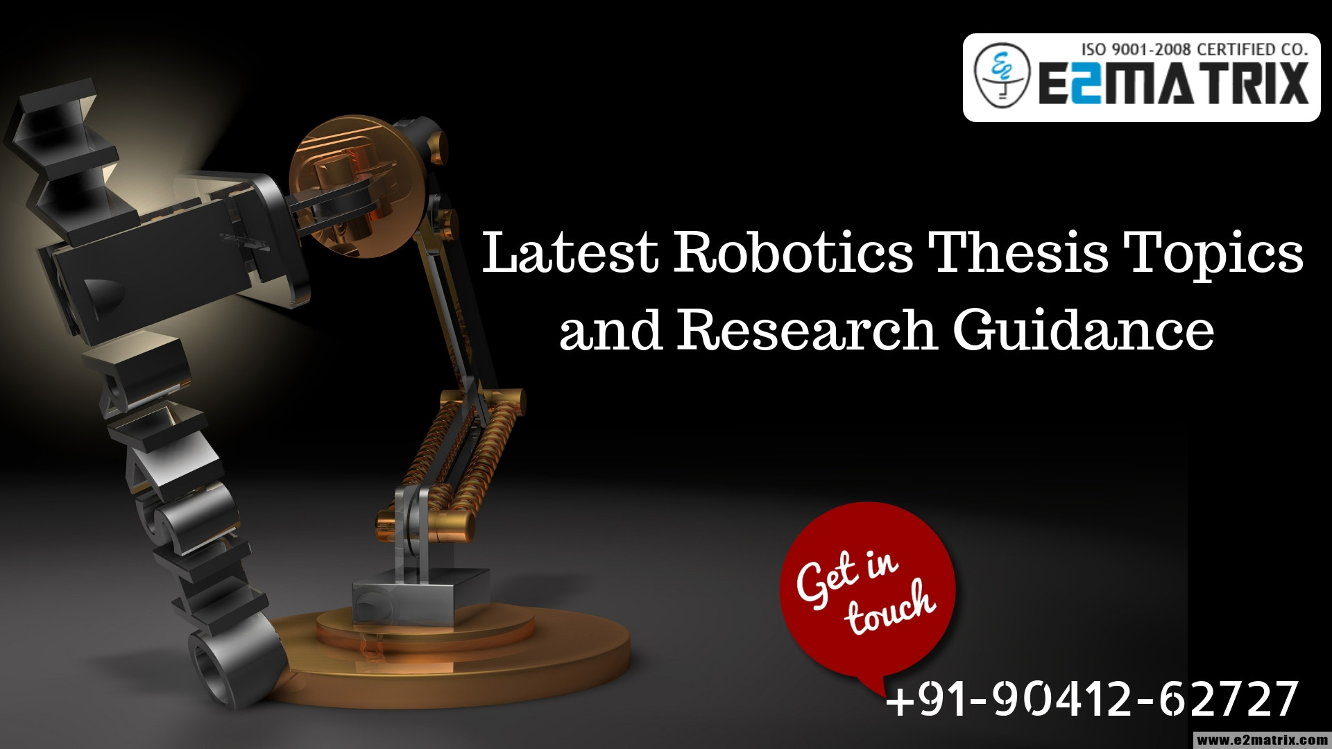 Latest Robotics Thesis topics help and Research Guidance