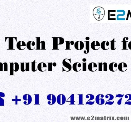 B Tech Project for Computer Science CSE