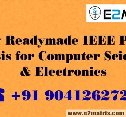 Buy Readymade IEEE PhD Thesis for Computer Science Electronics