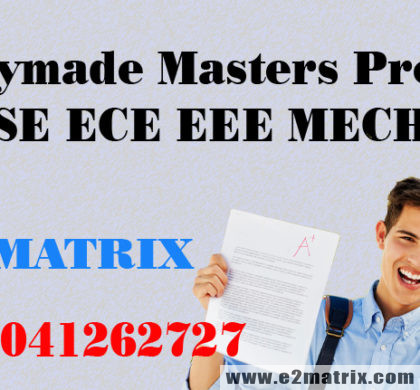 Buy Readymade Masters Project for CSE ECE EEE MECH