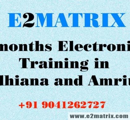6 months Electronics Training in Ludhiana-6 months industrial training for ece in Amritsar