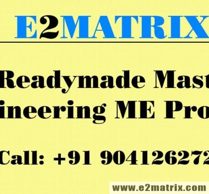 Buy Readymade Master in Engineering ME Projects