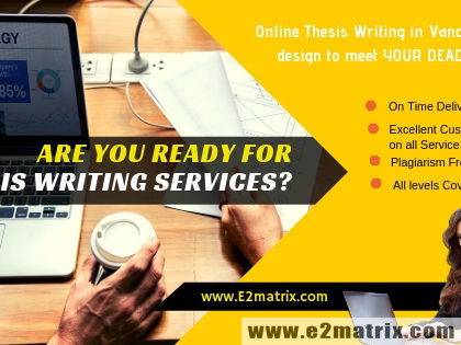 Thesis Writing Service in Vancouver, BC