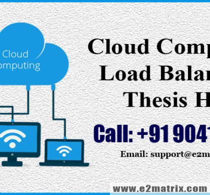 Load Balancing in Cloud Computing thesis help