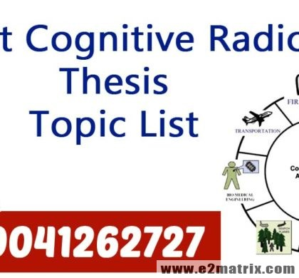 Latest Cognitive Radio Thesis Topic List Help | Research Guidance service