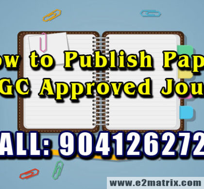How to write UGC Research Paper for UGC Approved Journal Publication