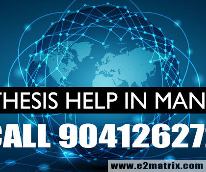 M.Tech Thesis Help in MANET | PhD Thesis Help in MANET