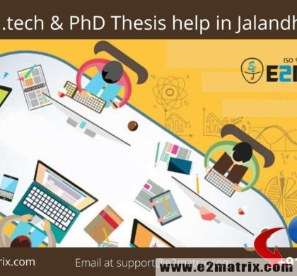 M.tech and PhD Thesis help in Jalandhar | Research Guidance