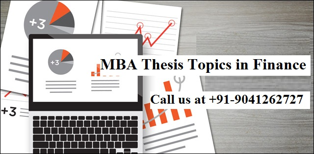MBA Thesis Topics in Finance