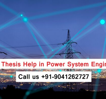 M.Tech Thesis Help in Power System Engineering