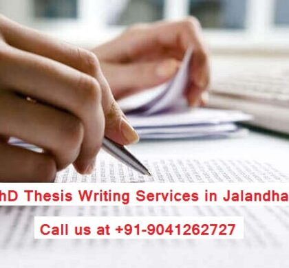 PhD Thesis Writing Services in Jalandhar