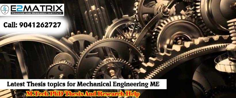 Mechanical engineering dissertation topics