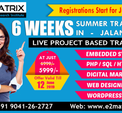 6 Weeks Summer Training in Jalandhar Punjab – Registration Open
