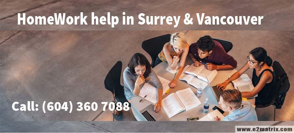 Homework Help in Surrey BC   Homework Help in Vancouver BC